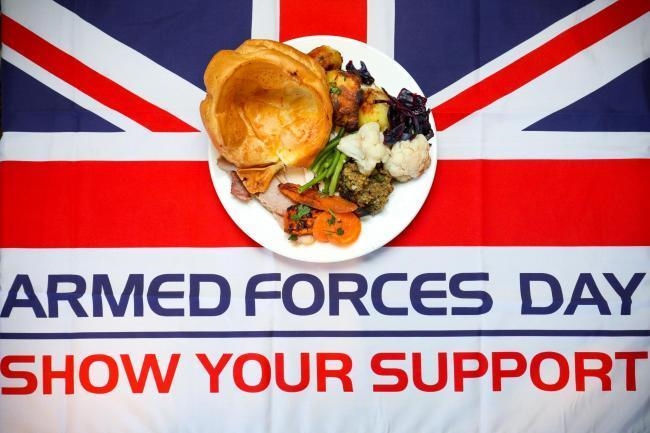 Troops and veterans can get a FREE Toby Carvery this Armed Forces Day