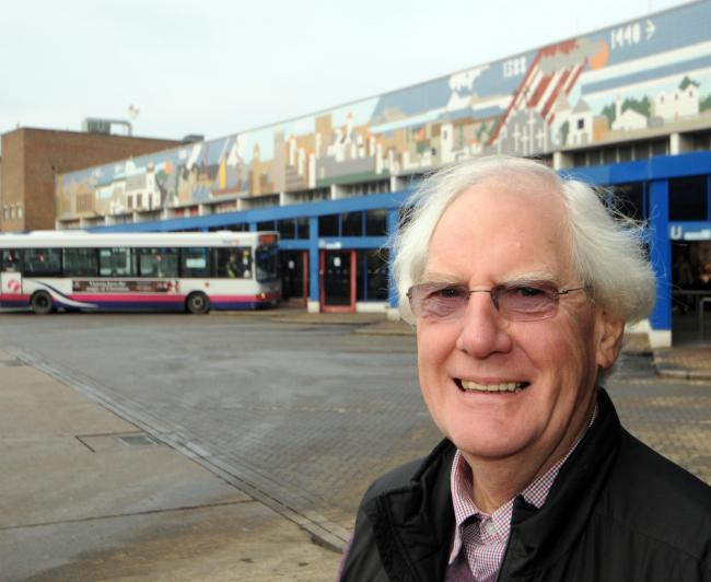 Concerns - historian Vin Harrop is worried about the future of a 160,000-piece mosaic in the town
