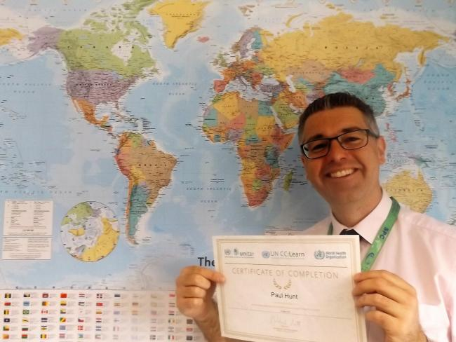 Expert - Paul Hunt, leader in geography at The Appleton School, is honoured to receive accolade