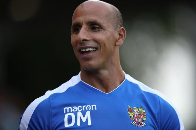 Determined - Stevenage manager Dino Maamria
