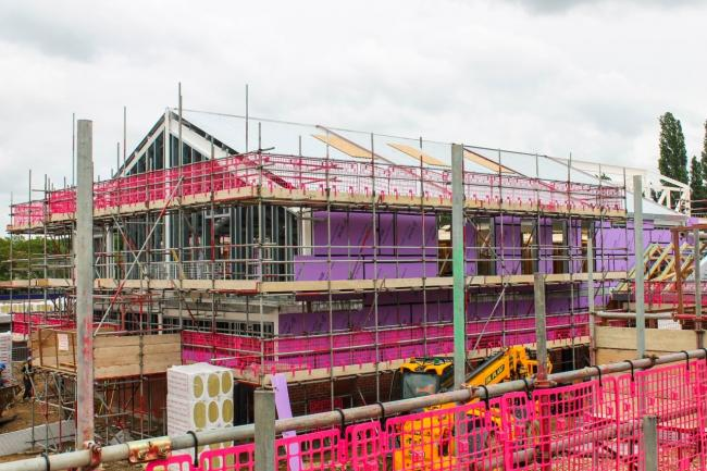 Progressing well - the new Fair Havens hospice is getting closer to completion