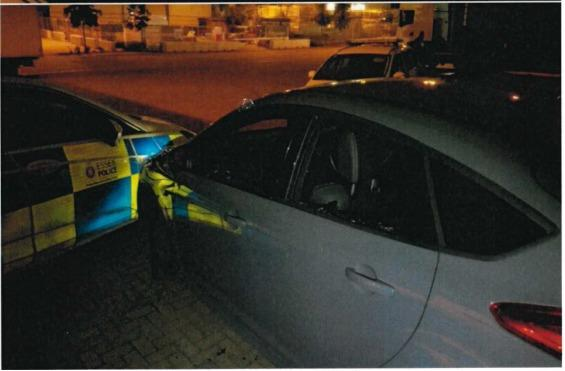The police chase took place in Paycocke Road in Basildon. Picture: Essex Police Basildon