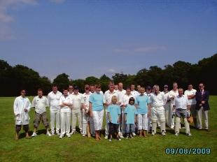 All white on the day – the players who took part in the match