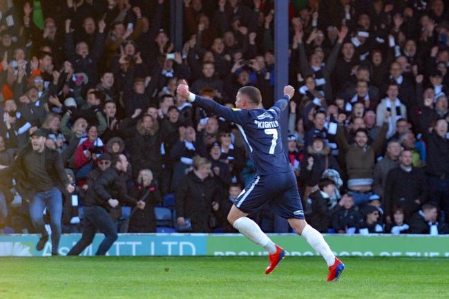 High point - Michael Kightly celebrates Blues' win against Sunderland on the final day of last season