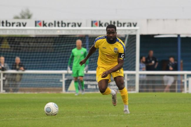 Wearing the armband - Tosin Olufemi has been announced as Concord Rangers' new team captain Picture: PAUL RAFFETY