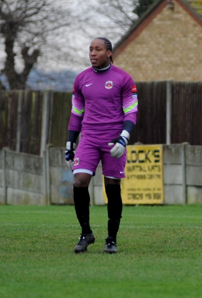 Made his debut - Lamar Johnson was between the sticks for Canvey Island