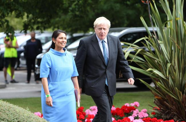 'Tough' - new Home Secretary Priti Patel with PM Boris Johnson