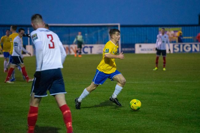 Grabbed his first goal in Canvey Island colours - Kane Gilbert Picture: AL UNDERWOOD