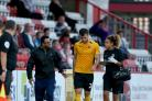 Going off - Harry Lennon suffered a head injury against Stevenage