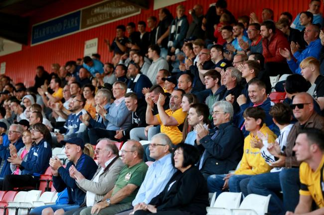 Backing their team - Southend United's supporters at Stevenage