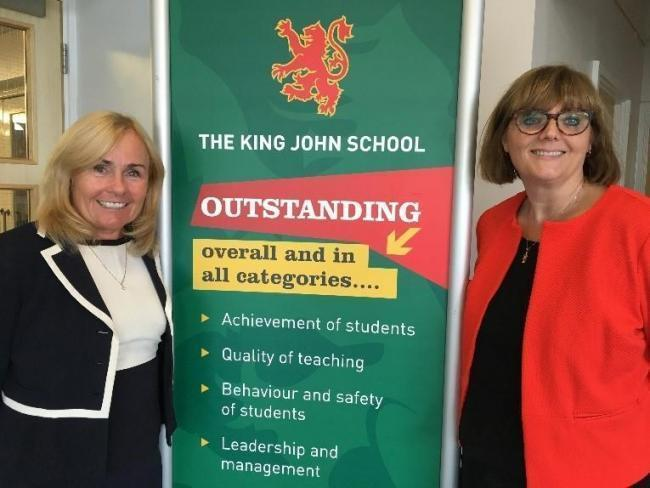 Committed - Dr Margaret Wilson and headteacher Melanie McGauley