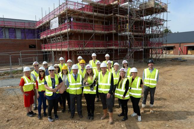 Topping out ceremony at new Fair Havens Hospice (credit: Warren Page)