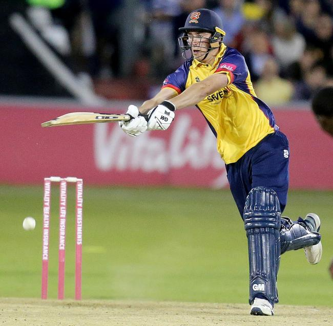 Key innings - Dan Lawrence hit 59 not out   Picture: NICKY HAYES