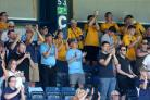 Backing their team - Southend United's supporters at Wycombe Wanderers