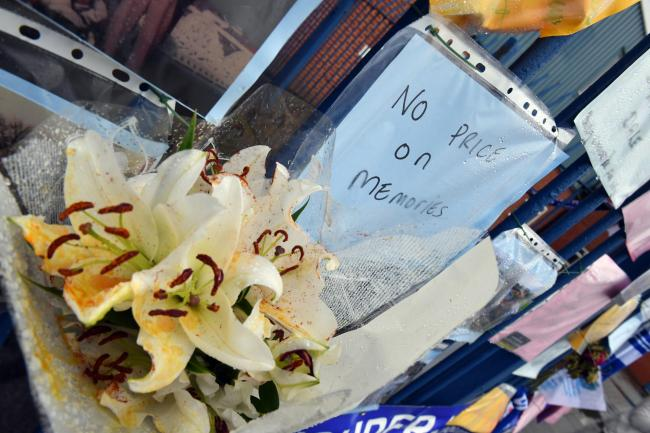 Expelled - Messages from supporters are placed on a fence outside Gigg Lane stadium