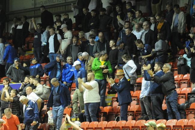 Backing their team - Southend United's supporters at Leyton Orient