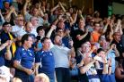 Backing their team - Southend United's supporters at Roots Hall