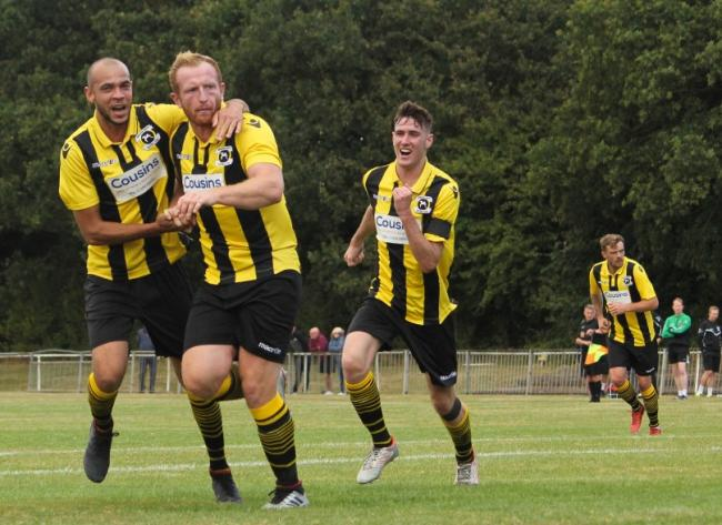 Hoping to be in celebratory mood - Adam Vyse and Basildon United Picture: MATTHEW THOWNEY