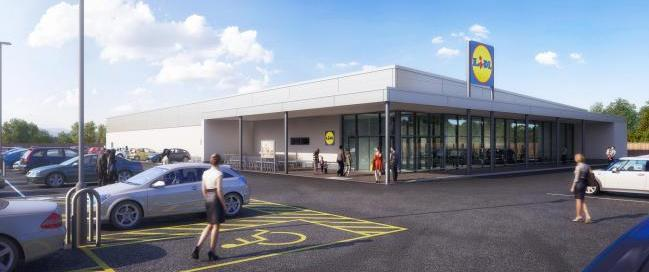 Plans - how the Shoebury Lidl could look if the plans are approved at a development control meeting this week