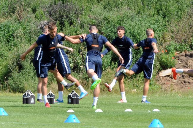 Hard at work - Southend United's players in training