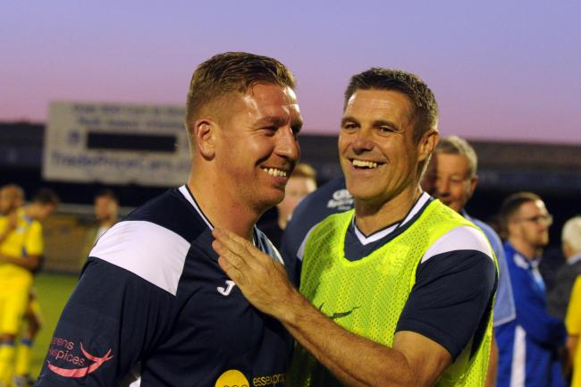 Having his say - Southend United legend Freddy Eastwood (left) with his former manager Steve Tilson