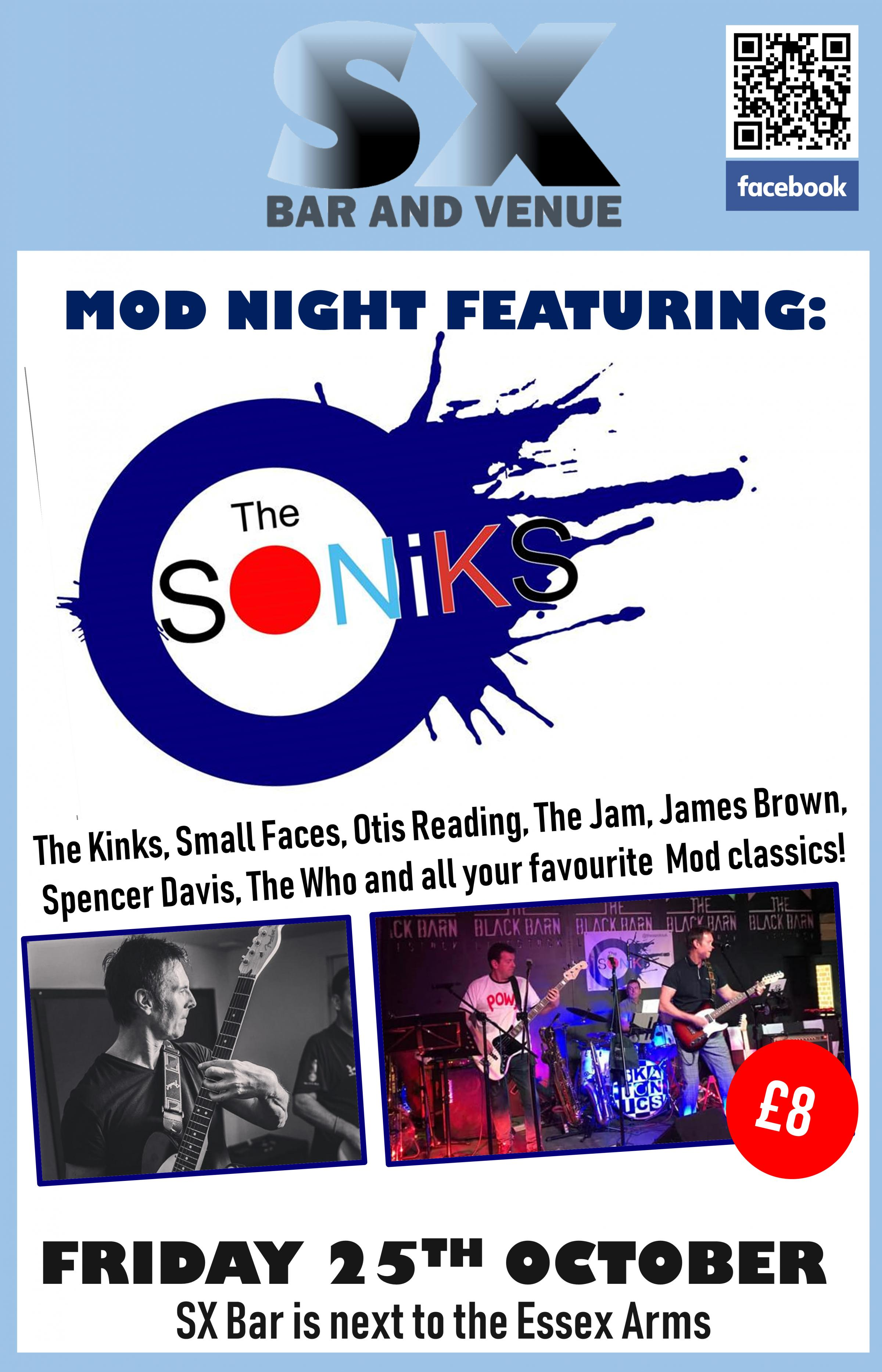 Mod Night with The Soniks