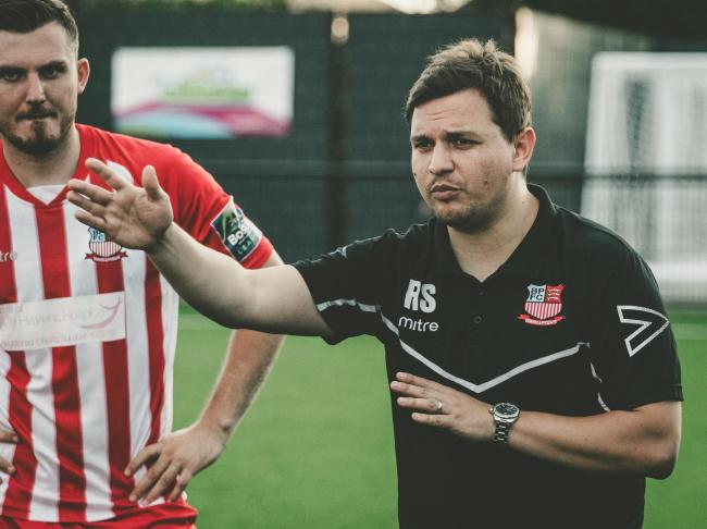 Looking to make history - Rob Small is aiming to guide Bowers & Pitsea into the third qualifying round of the FA Cup for the first time Picture: NASH PHOTOGRAPHY