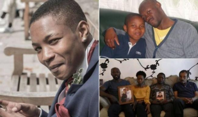 Help - Dwayne (left) who was killed last year pictured with brother Alton (top right) and his family appeal for help one year on (bottom right)