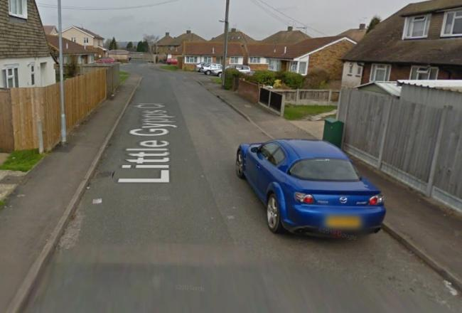 The crash happened in Little Gypps Close. Pic: Google