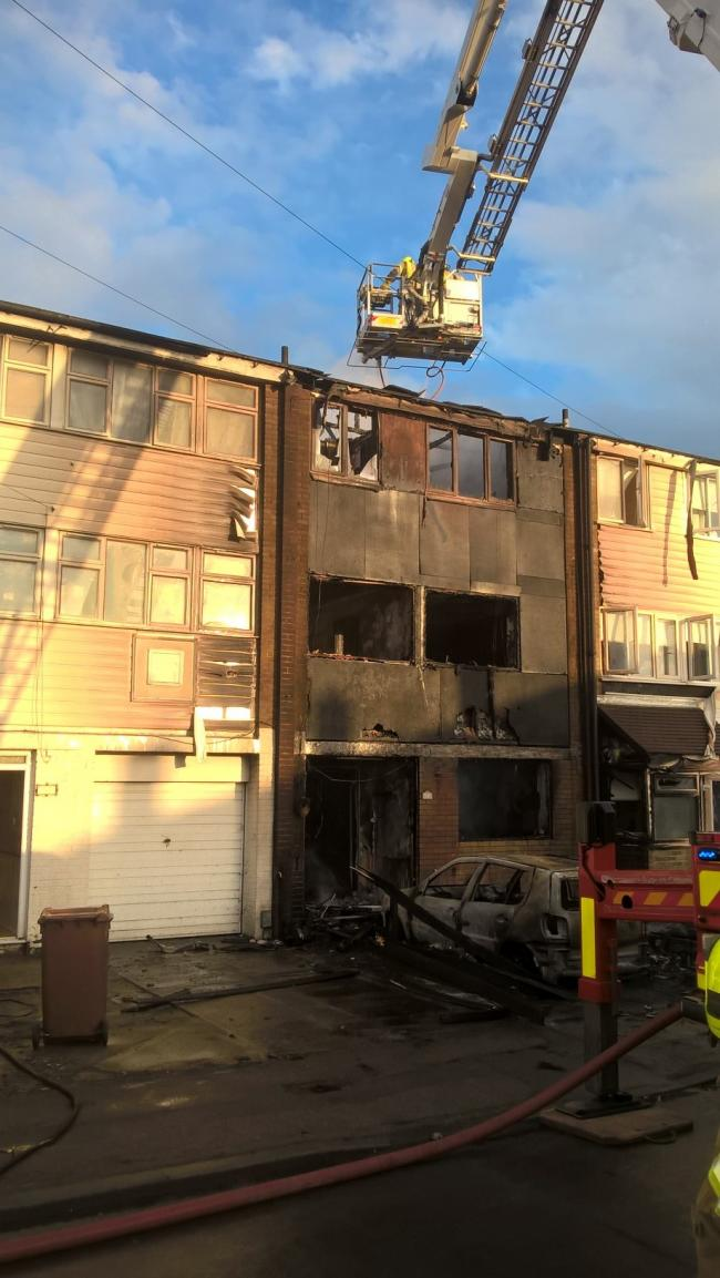 Scene - the damaged home - pic by Essex Fire Service