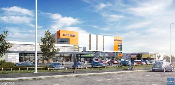 Proposal - the major plans will see a Lidl built opposite Pipps Hill retail park