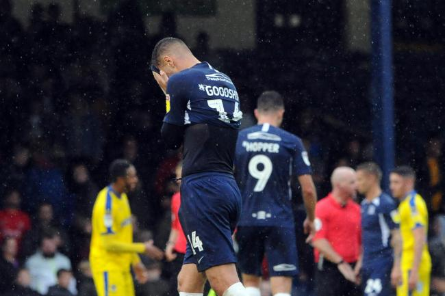 Frustrated - Southend United striker Brandon Goodship