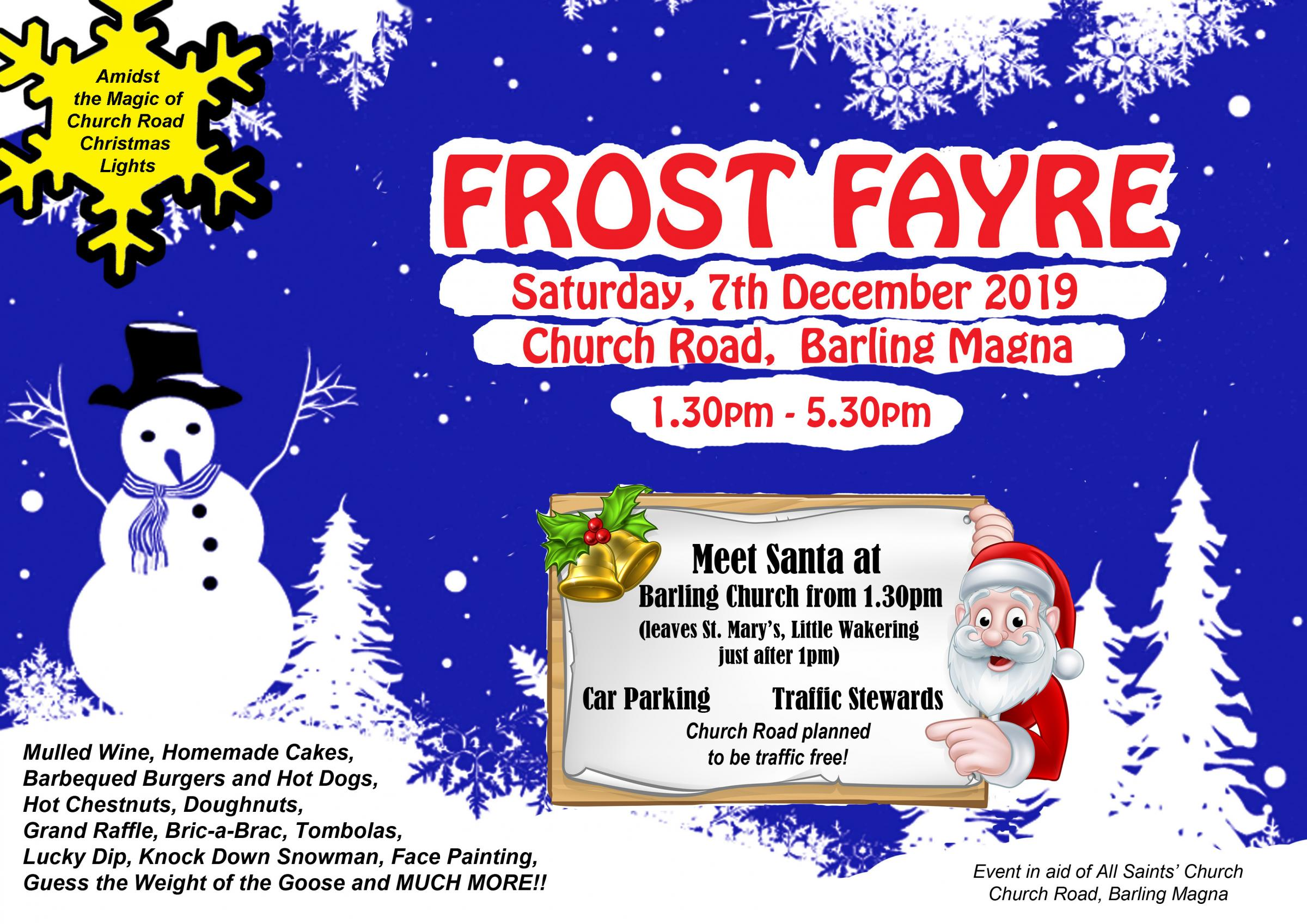 Frost Fayre in Barling Magna