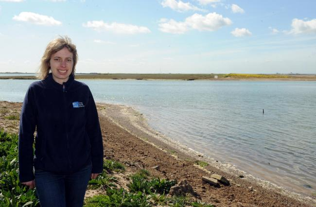 Exciting - Rachel Fancy, from the RSPB, on Wallasea Island