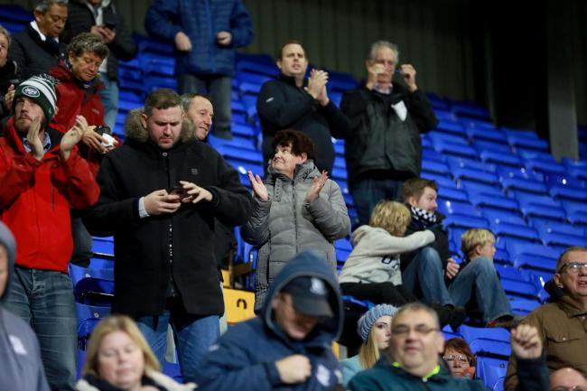 Backing their team - Southend United's supporters at Tranmere Rovers