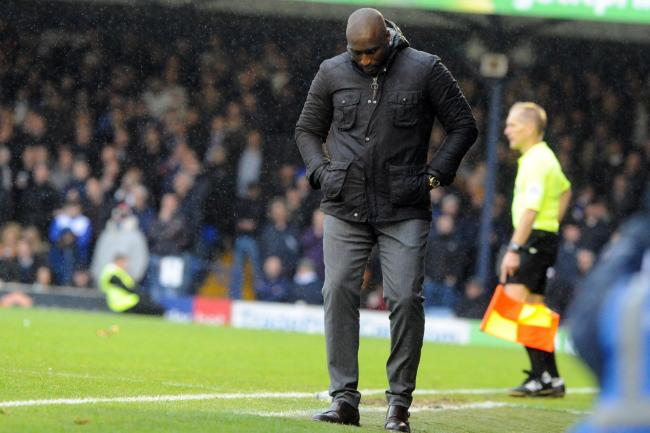 Frustrating start - for new Southend United manager Sol Campbell   Picture: LUAN MARSHALL