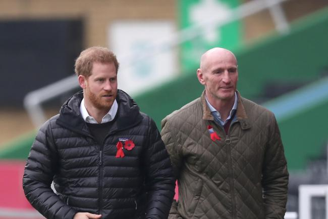 The Duke of Sussex and Gareth Thomas at Twickenham