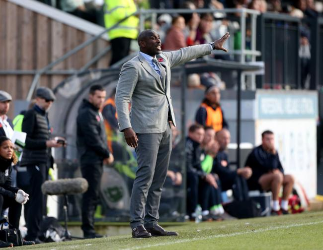 Frustrated - Southend United boss Sol Campbell