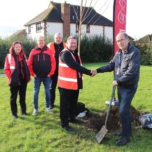 Planting - David Harrison with representatives from Virgin Media