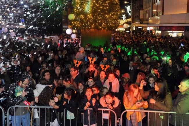 The Southend lights switch on