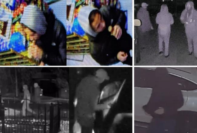 Appeal - Police have released various CCTV images of people they want to speak to in connection with the burglaries