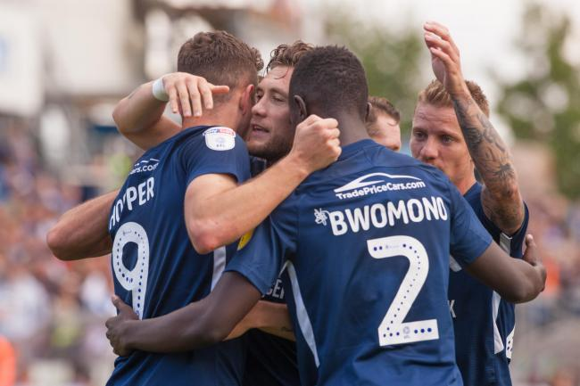 Flashback - Blues celebrate Tom Hopper's winner at Bristol Rovers last season