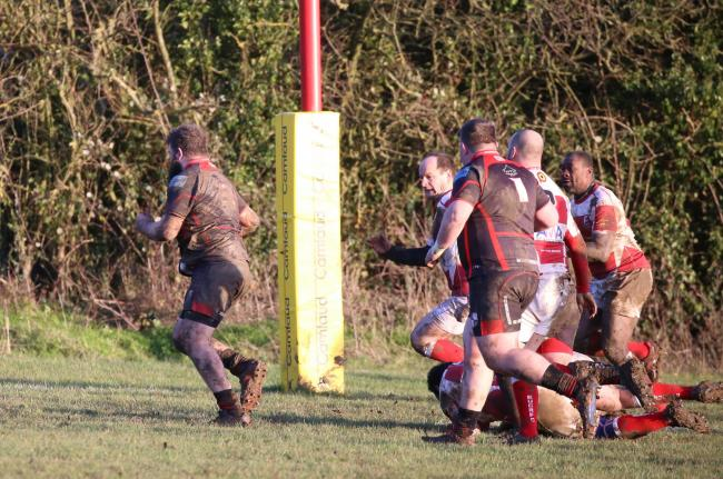 Try-scorer - South Woodham Ferrers' Tate Holliday.