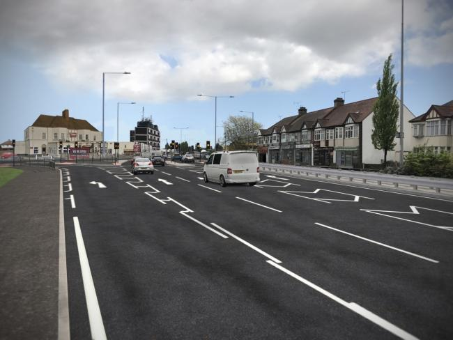 Work - The new look of the new Bell junction following the improvements