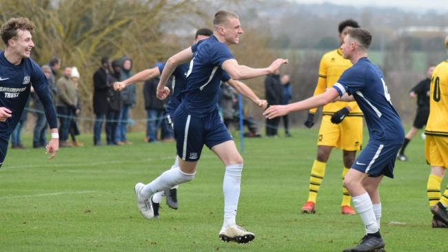 Celebration time - Blues defender Jimmy Wallace celebrates scoring his first youth team goal    Picture: ROB CRAVEN