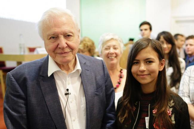 Mya-Rose Craig with Sir David Attenborough