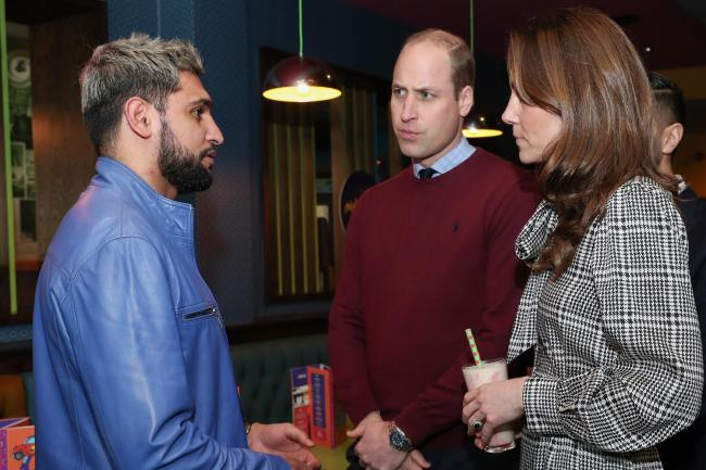 The royal couple met Amir Khan in Bradford