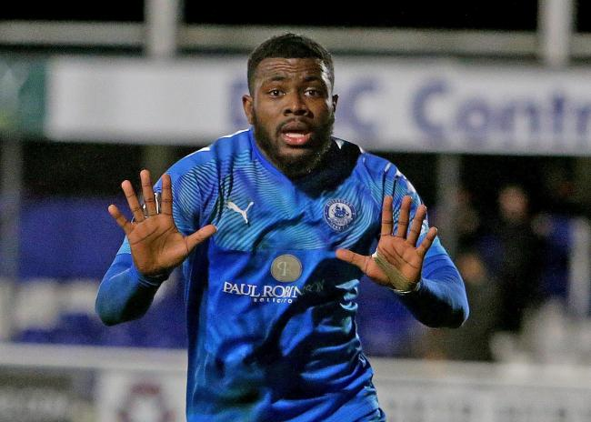 Marksman - Femi Akinwande has taken his tally to 10 goals for the season Picture: NICKY HAYES/iCORE LTD