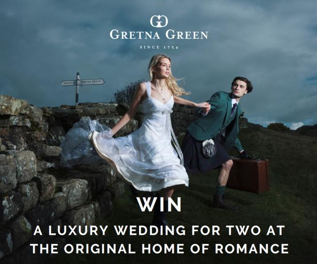 Competition: Win a luxury wedding package & fly Away to Gretna Green