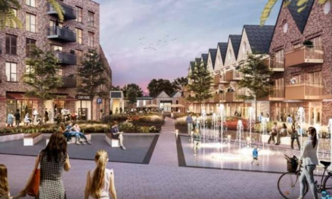 Plans - a CGI of what the council are planning for Wickford town centre